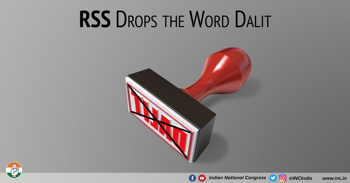 RSS drops the word Dalit