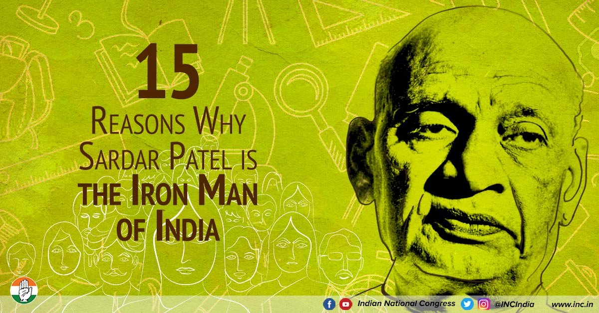 15 facts to know Why Sardar Patel Is Called 'The Iron Man Of