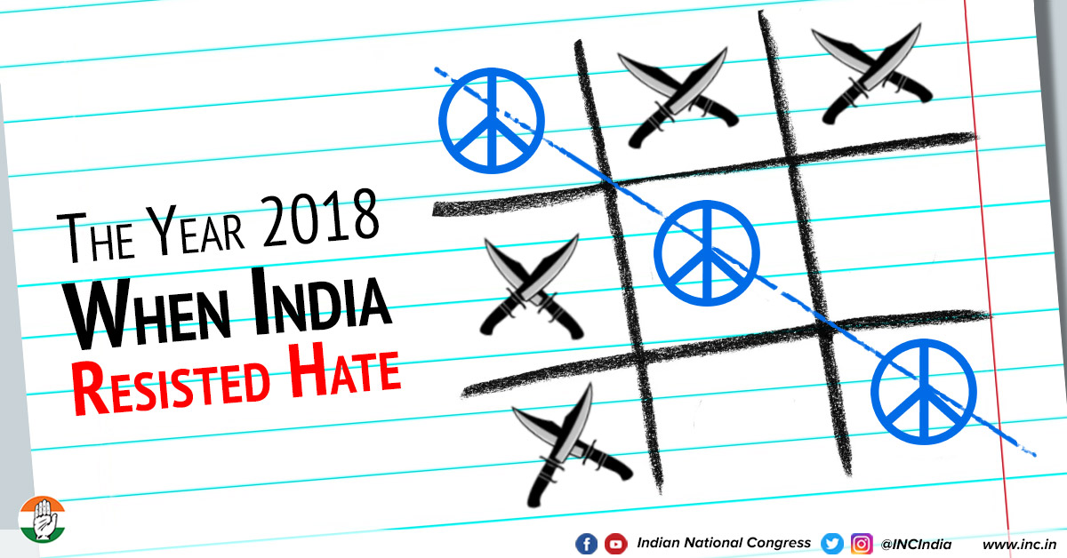 India resists hate dec 28 18 congress