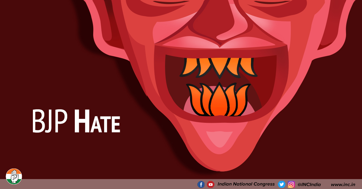 Bjp hate apr 23 2019 congress