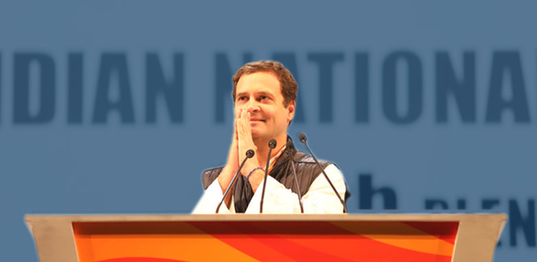 Congress President Shri Rahul Gandhi addresses booth workers in Mumbai
