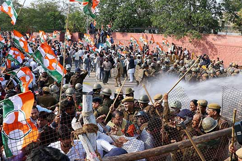 Congress workers injured