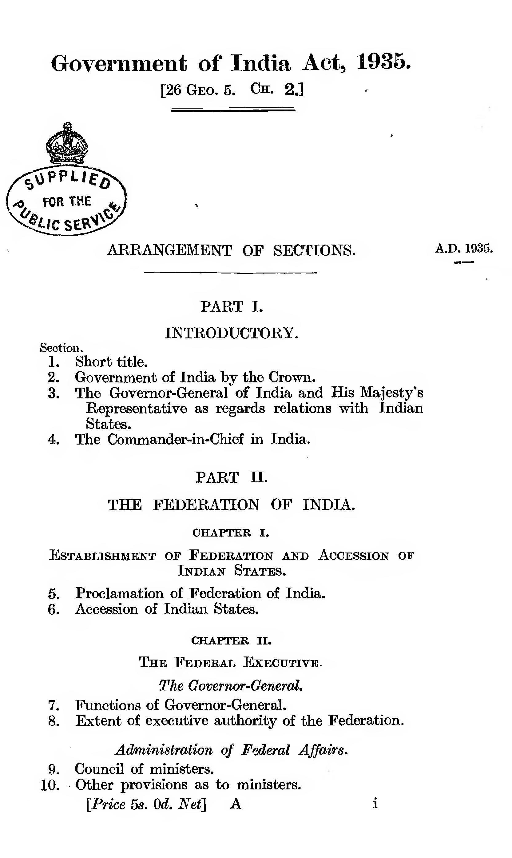 Description: Image result for government of india act 1935