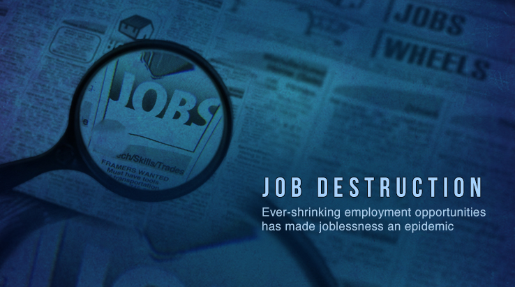 Job destruction wesite banners